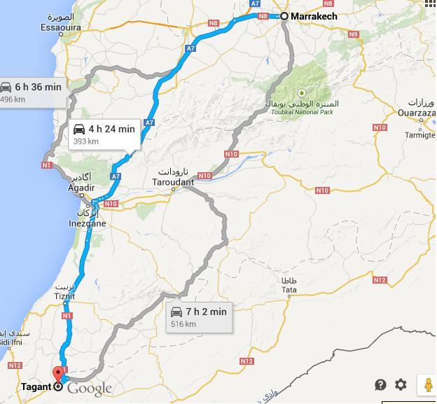 de marrakech à Tagant