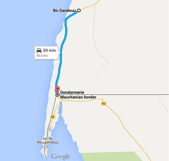 bir gandouz_frontiere mauritanienne
