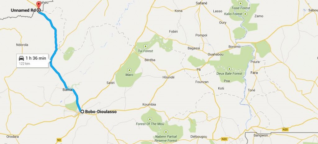 frontiere burkinabée à Bobo-dioulasso