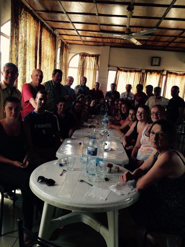 Rencontre inopinée avec des élèves de St Yves de Bain de Bretagne